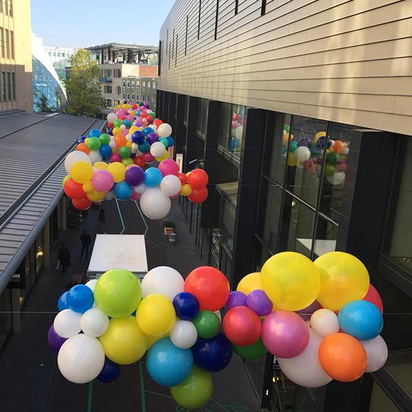Ballonnen decoratie voor feestdagen