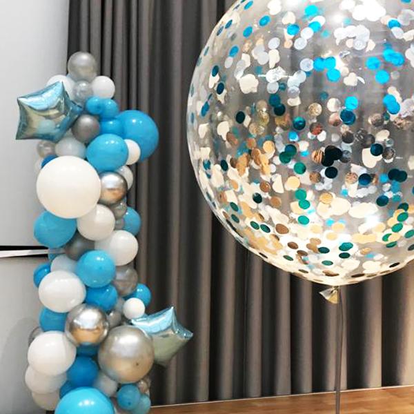 Ballonnen decoratie voor geboorte